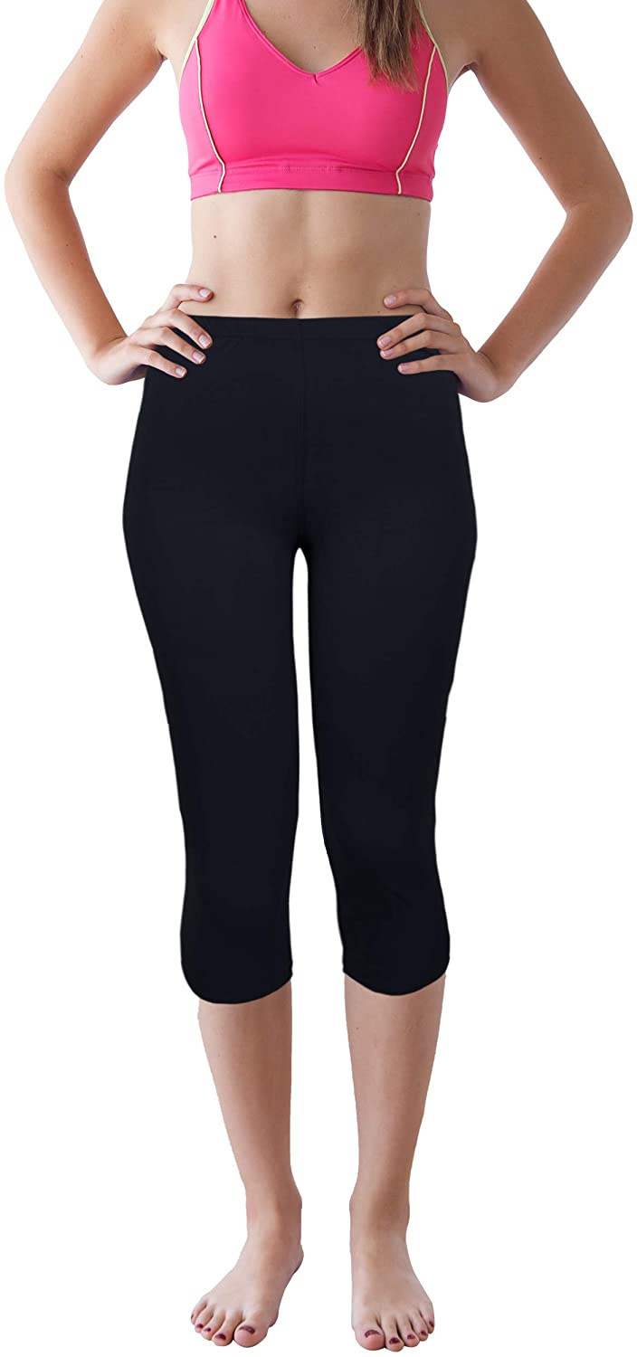 Renee Raquel Women's High Waisted Yoga Slimming Pants Tummy Control Ultra Soft Solid Color Leggings Charcoal