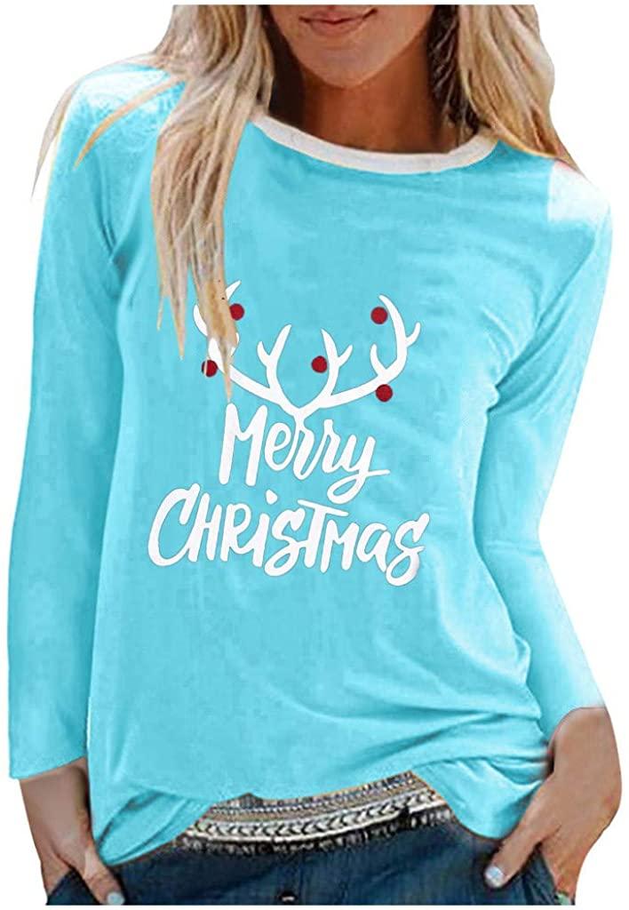 Fashion Women Halloween Sweatshirts Cotton O-Neck Printed Long Sleeve Casual Holiday Loose Pullover Shirts Tops