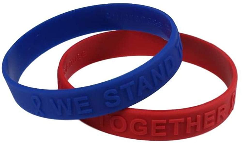 Coronavirus / COVID 19 Awareness and Healthcare / First Responder Awareness Combo Embossed Silicone Bracelet