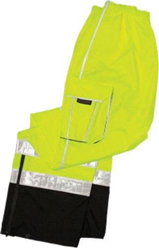 ML Kishigo RWP106 Brilliant Series High-Viz Rainwear Pant, Fits Small and Medium, Lime