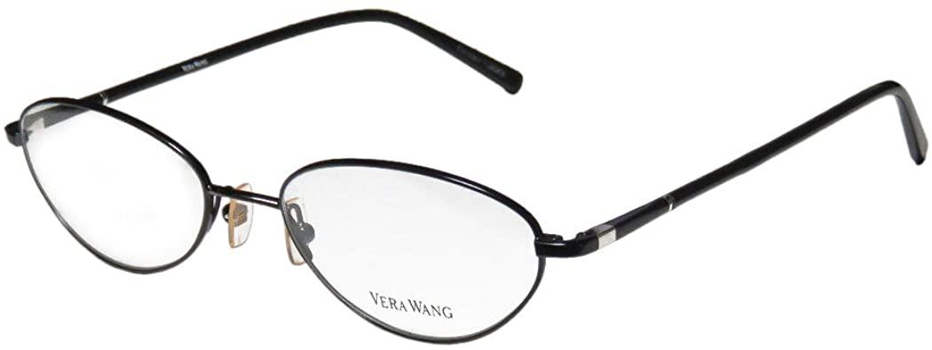Vera Wang V110 Womens/Ladies Designer Full-rim Adjustable Nose Pads Must Have Eyeglasses/Glasses (51-17-140, Black)