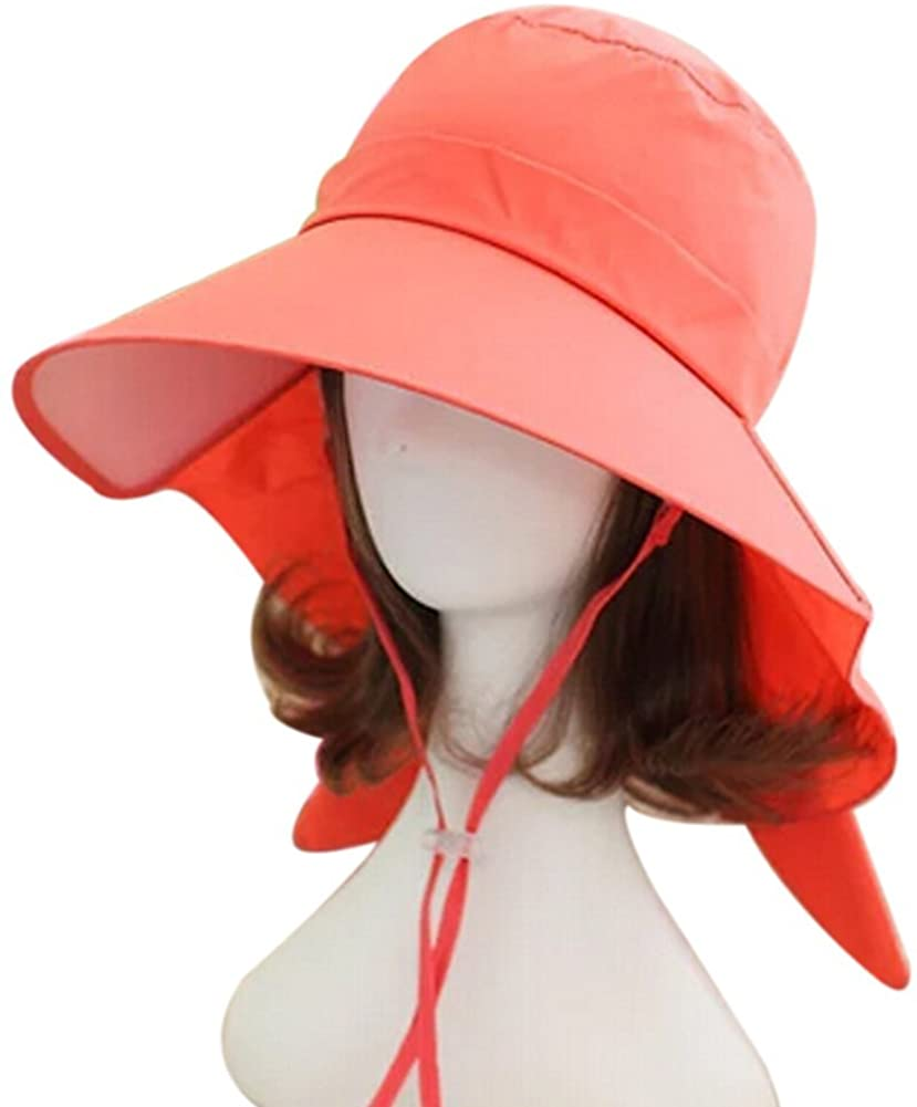Eforstore Women Outdoor UV Protection Sun Hat Wide Brim Floppy Fold Beach Cap