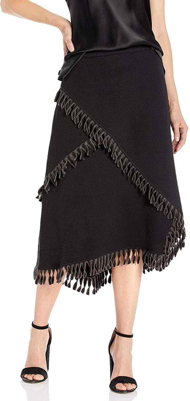 NIC+ZOE Womens Fringe Trim Skirt