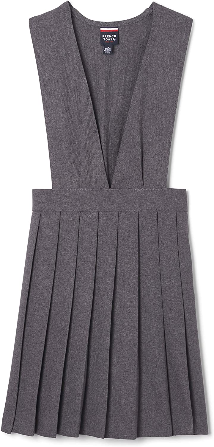 French Toast Girls V-Neck Pleated Jumper