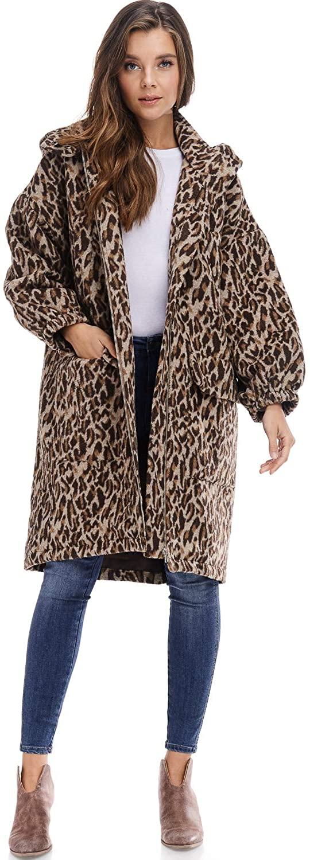 Tov Faux Fur Leopard Parka