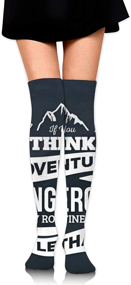 Game Life High Socks Adventure Awaits Sport Socks Crew Socks