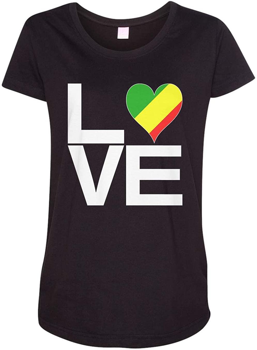 Tenacitee Ladies Love Block Congo Heart Maternity Shirt