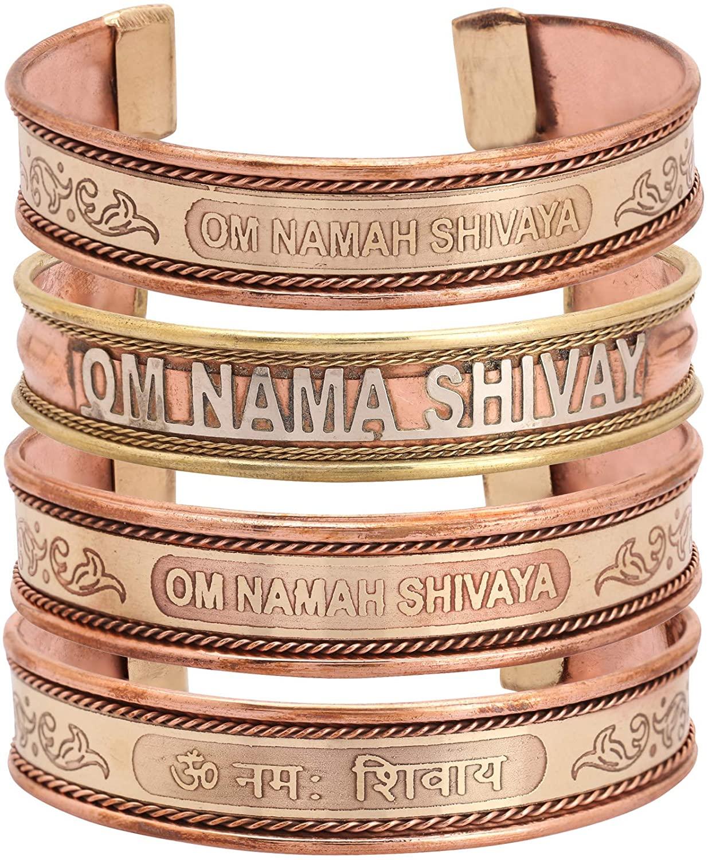 iCraftJewel Set of 4 Cufflinks Jewelry Brass Copper Bio Healing Pain Reliever Bangle Jewelry Gift Item for Unisex