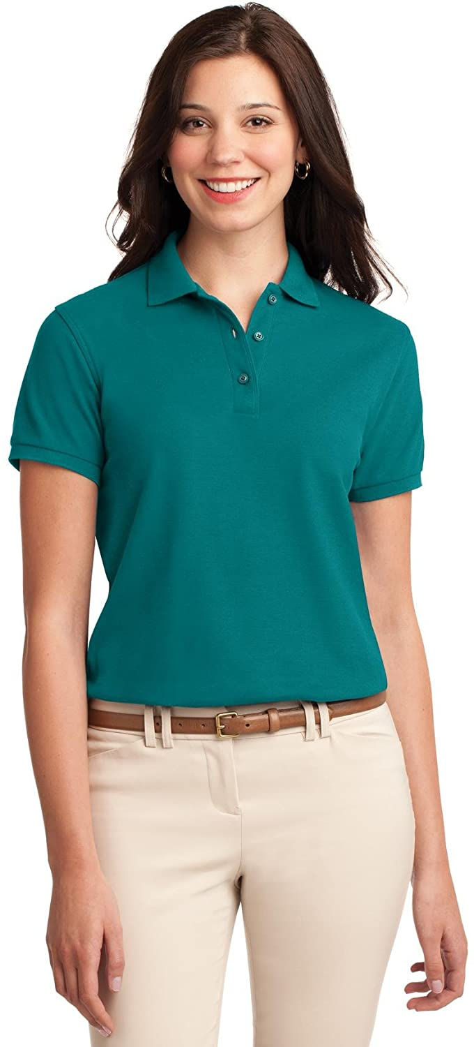 XtraFly Apparel Women's Silk Touch Polo Shirt L500 Teal Green