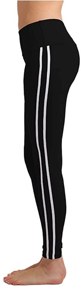 Women Long Yoga Gym Sports Fitness Leggings Striped High Waist Stretch Pant Workout Leggings Running Tights Yoga Pants