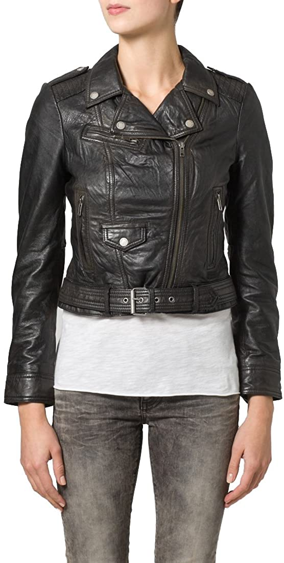 Genuine Soft Lambskin Leather Jacket for Womens Designer Wear NLT076