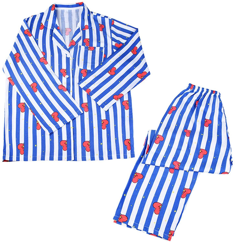 Kpop BTS Pajama Sets Cartoon Sleepwear Nightgown Jungkook Jimin Tops and Pants Set