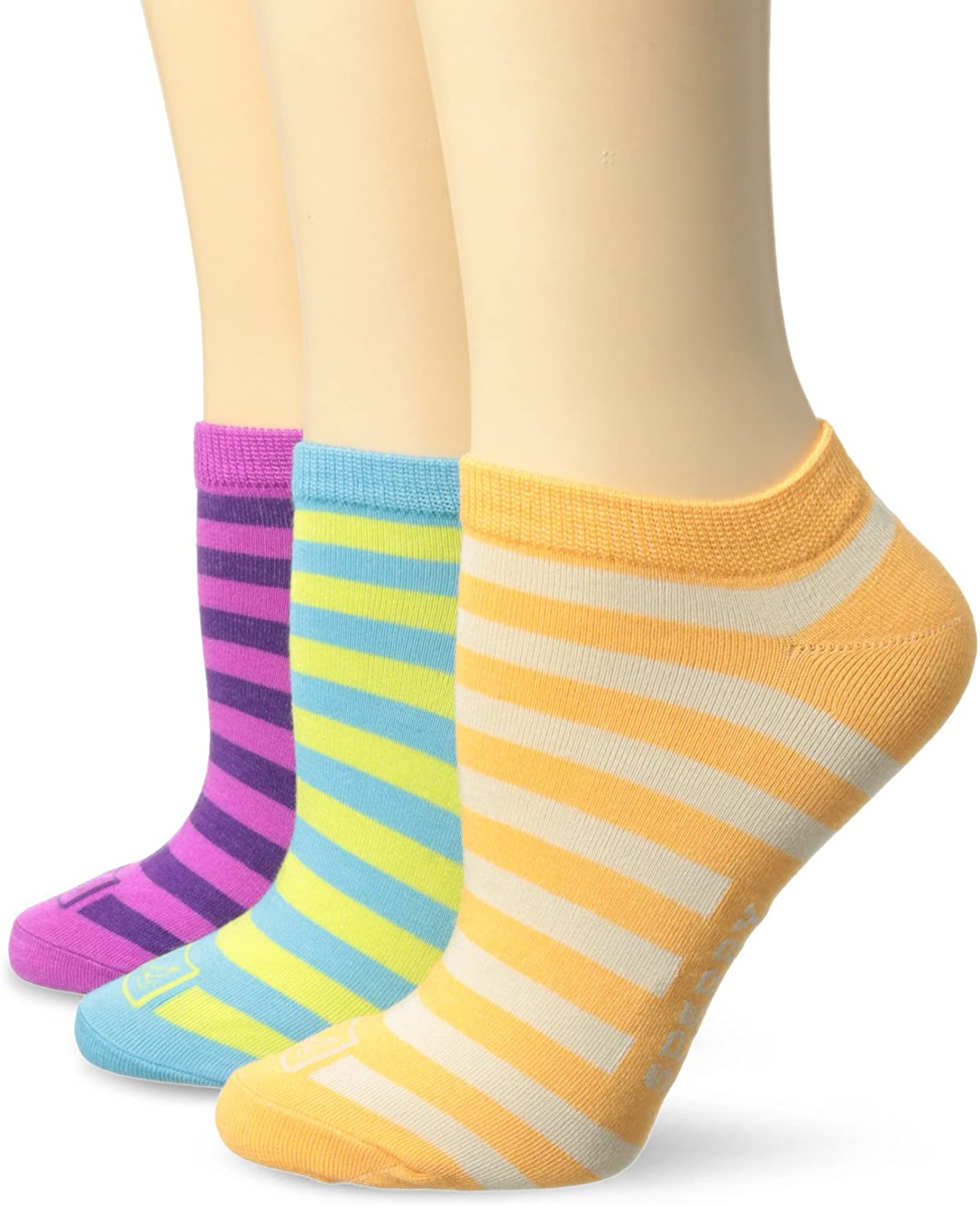 Sperry Top-Sider Women's Signature Stripe 3 Pair Pack Low Cut Socks Socks