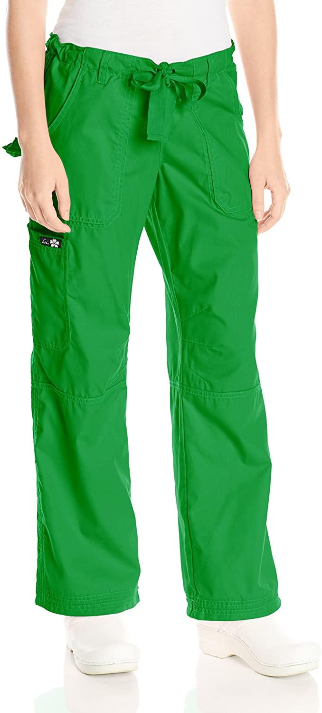 KOI Womens Lindsey Ultra Comfortable Cargo Style Scrub Pants Sizes, Emerald, X-Large Petite