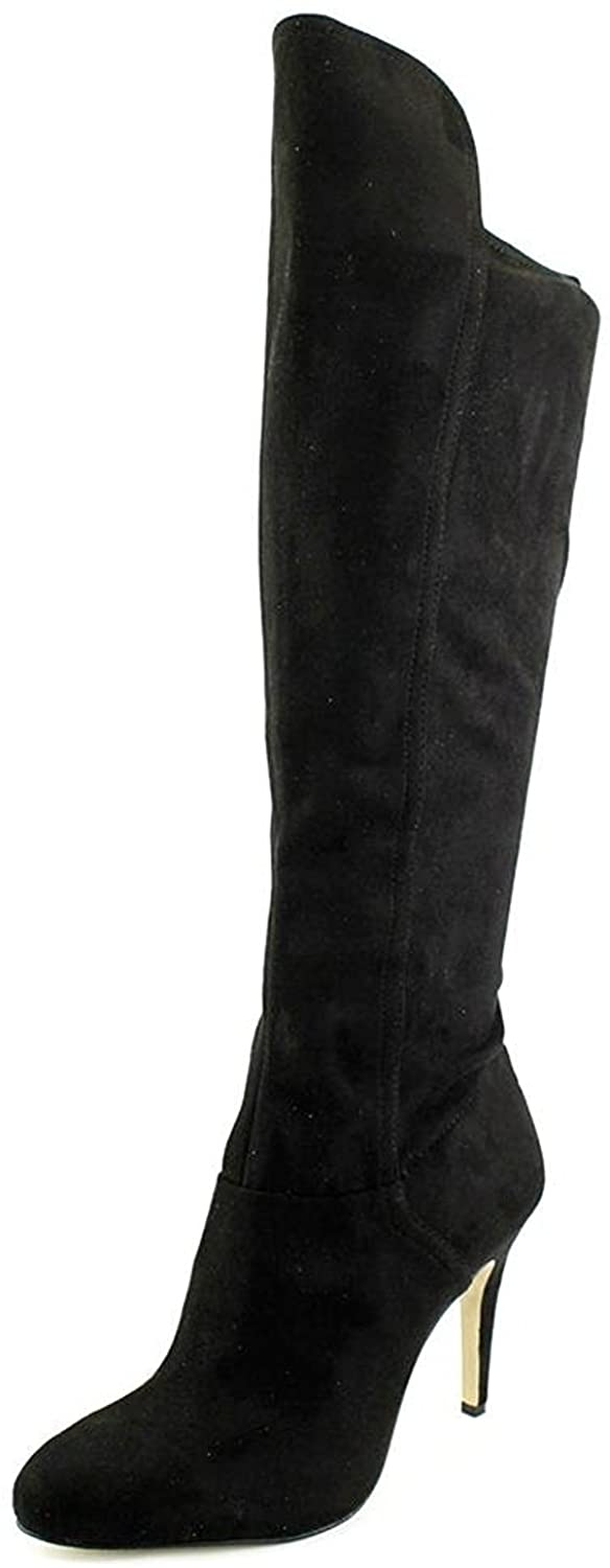 INC Womens Tacy Faux Suede Almond Toe Over-The-Knee Boots Black