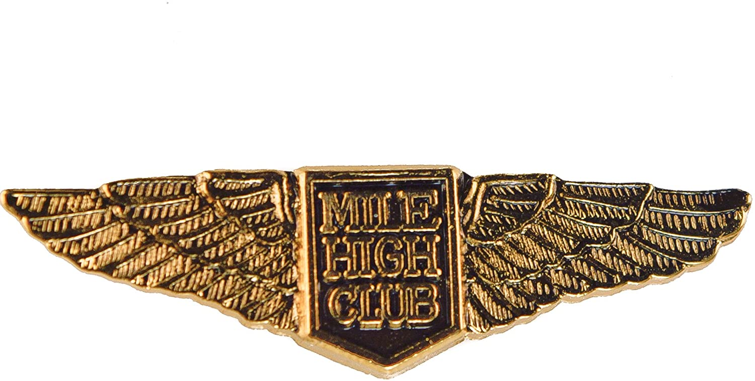 Sujak Military Items Mile High Club Wings Hat or Lapel Pin MHC