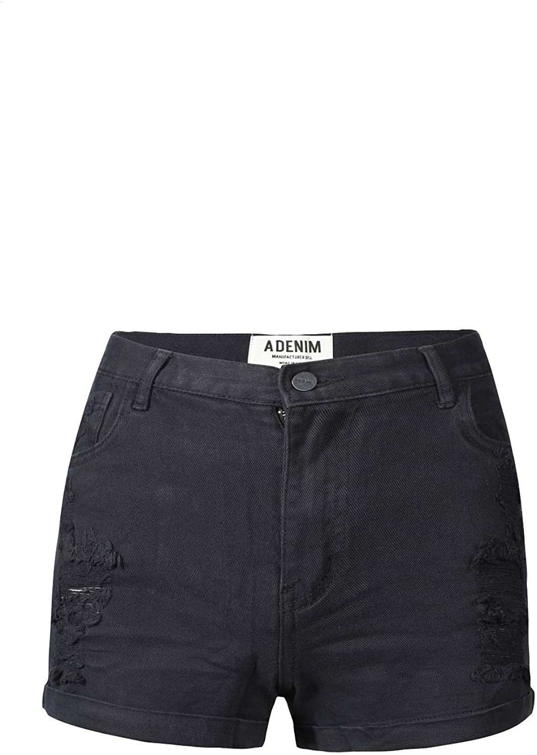 GOU ZHU 'S Distressed Denim Jean Shorts Butt Lifting Push Up Shorts For Women