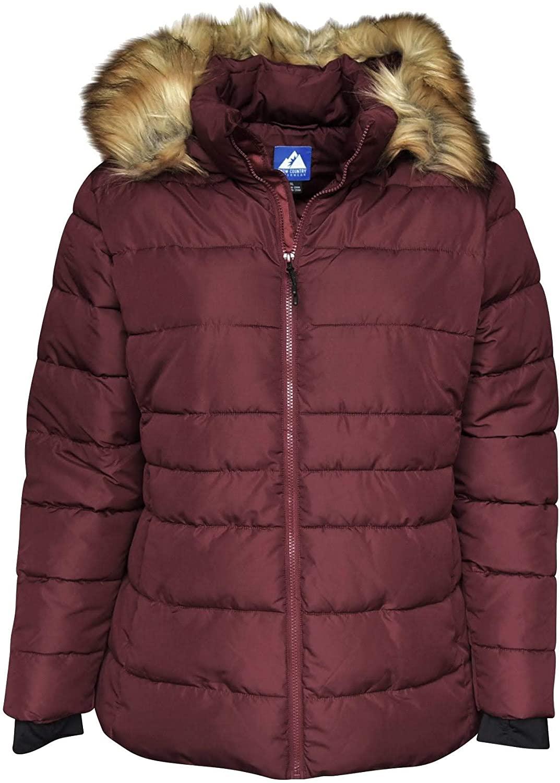 Snow Country Outerwear Women's Plus Extended Size Ski Coat Jacket Luna Down Alternative