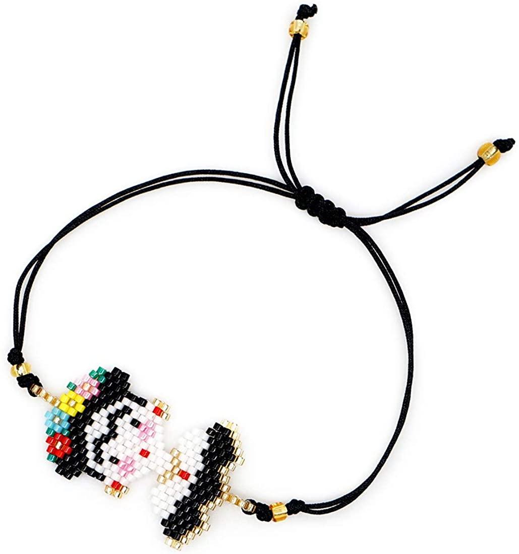 Frida Kahlo Bracelet Miyuki Bracelets Seed Beads Handmade Woven Jewelry Women Her Best Gifts