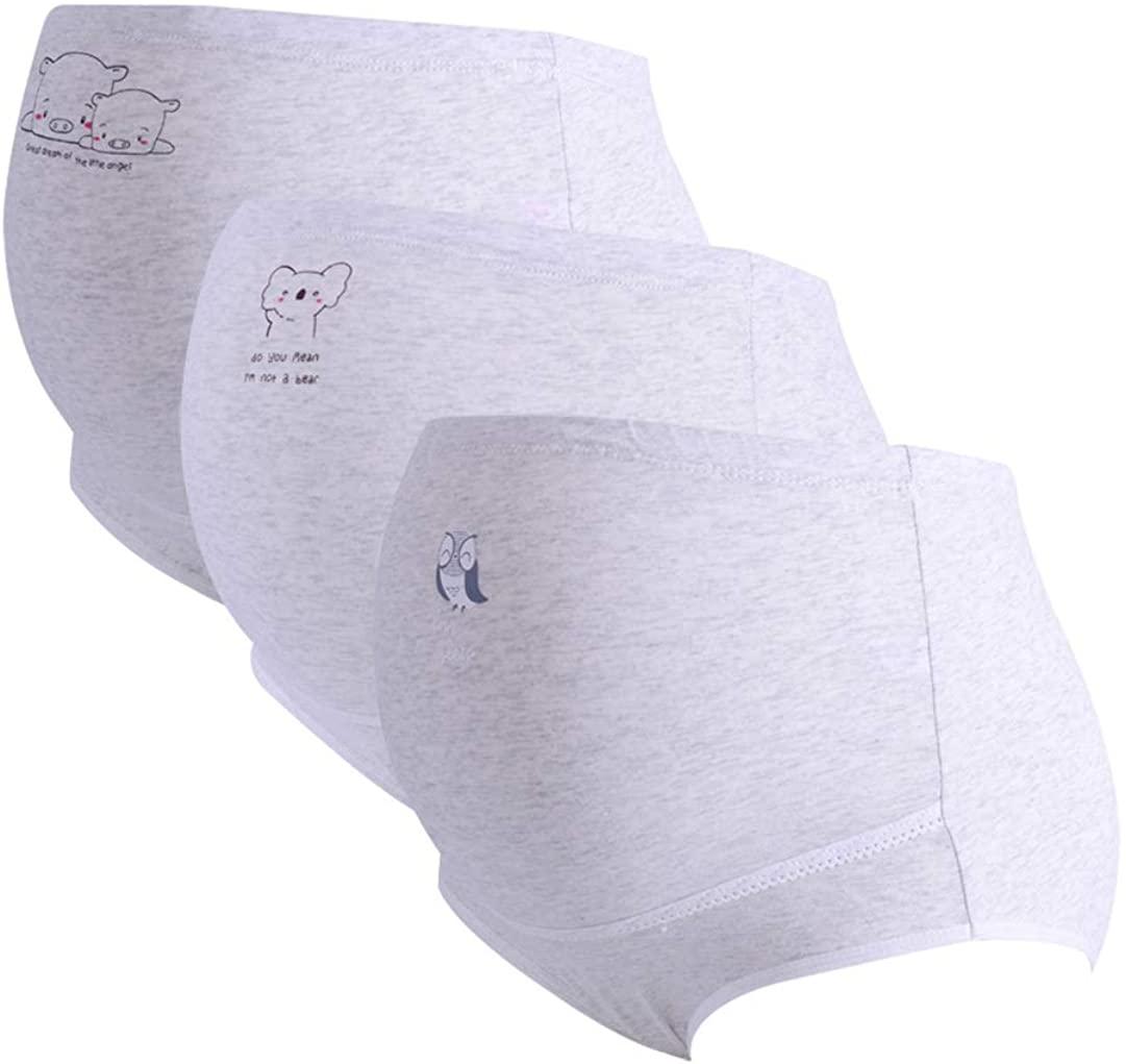 FEOYA Women's Maternity Underwear Over Bump Cotton Pregnancy Panties Plus Size High Waist Seamless Briefs 3 Pack