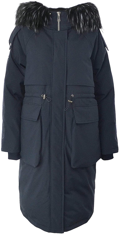 ELFJOY Womens Long Down Coat Zipper Puffer Jackets