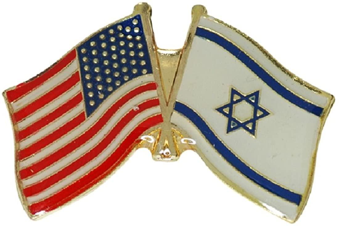 The Jerusalem Silver Shop Israel USA Friendship Flag Enamel Badge Lapel Pin Israel United States Gift