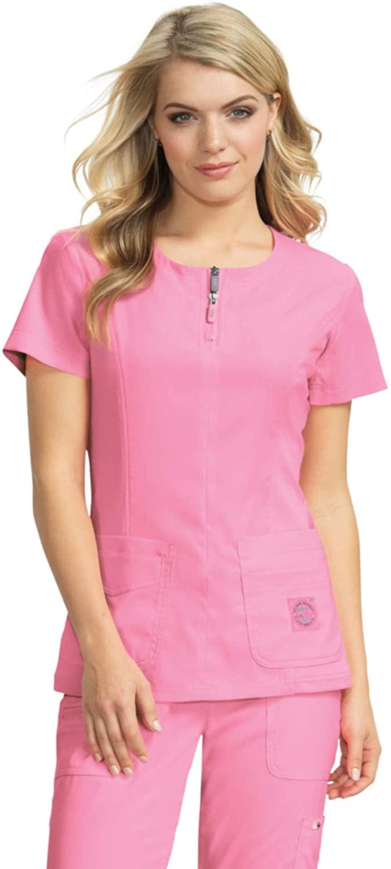 KOI Lite 317 Women's Serenity Scrub Top More Pink 2XL