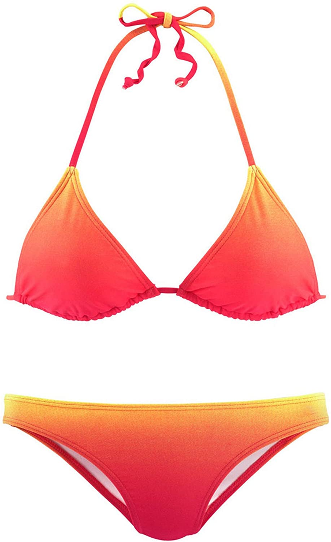 Womens Push-Up Halter Bandage High Waisted Bikini Swimsuits Brazilian Bikini Set Swimwear Beach Bathing Suit