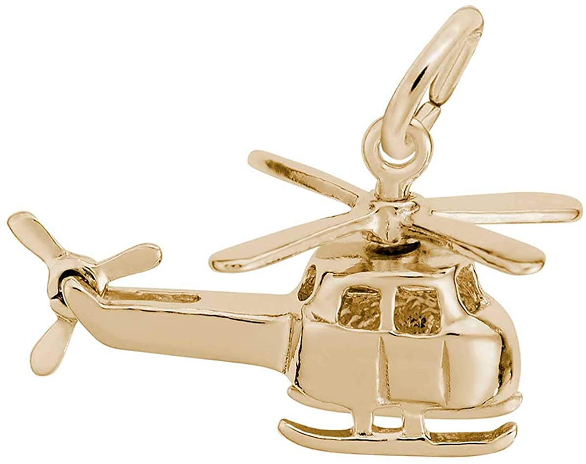 Rembrandt Charms Helicopter Charm, 10K Yellow Gold