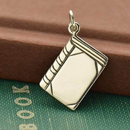 Sterling Silver Flat Book Charm 22x13mm - 1 Pc (12765)/1