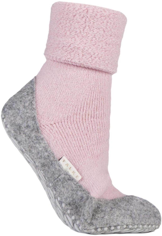 Ladies 1 Pair Falke CosyShoe Slipper House Socks Pink 5.5-6.5 Ladies