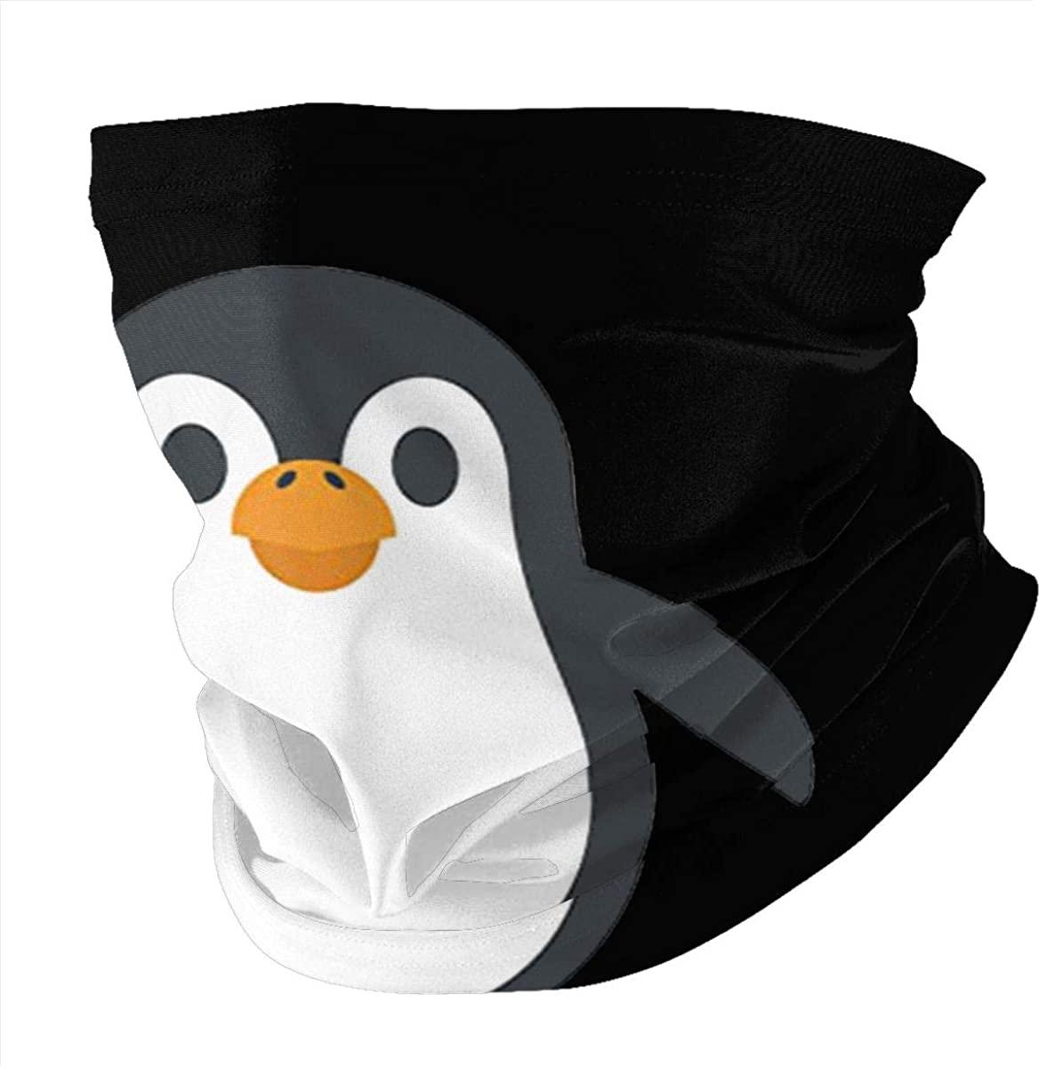 Bandanas Reusable Face Mask For Men Women Penguin Print Half Face Neck Gaiter