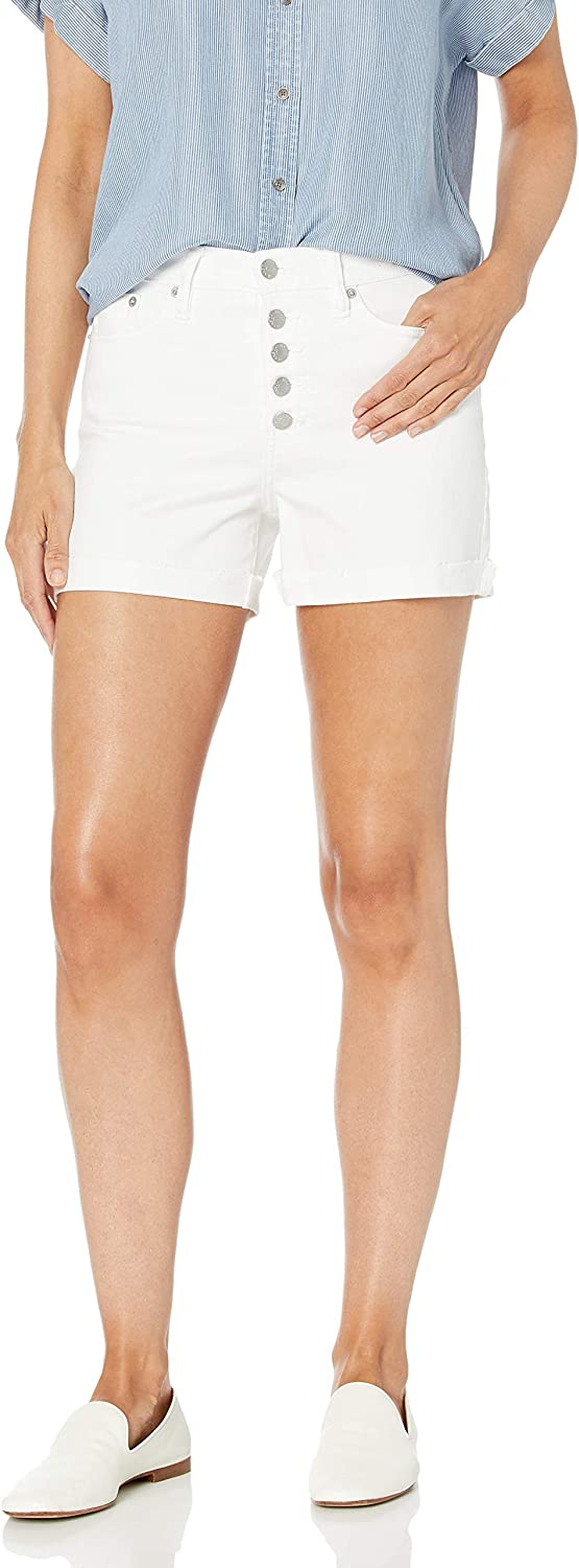 Calvin Klein Women's High Rise Cuffed Short with Buttonfly