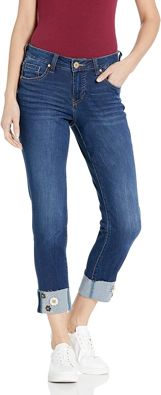 Jag Jeans Women's Carter Girlfriend W/Embellished Cuff Jean