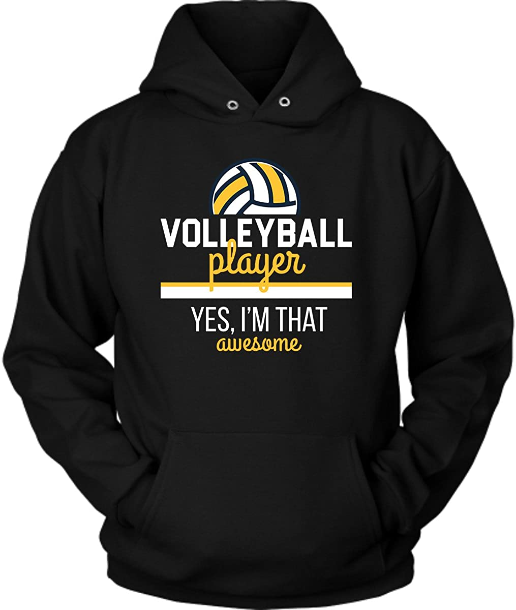 District Hoodies Volleyball Player Hoodie. Cute and Funny Gift Idea.