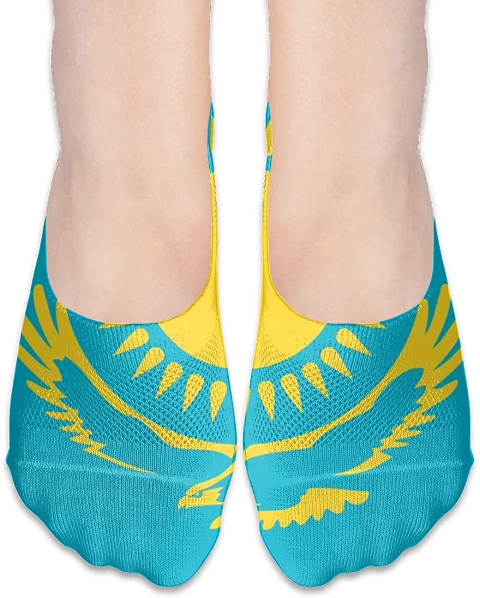 Flag Of Kazakhstan No Show Socks Women Low Cut Liner Ankle Socks For Flats