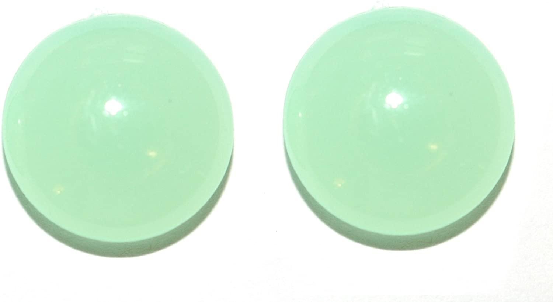 Green Acrylic Glow in the Dark Gem Clip On Earrings (S120clip)