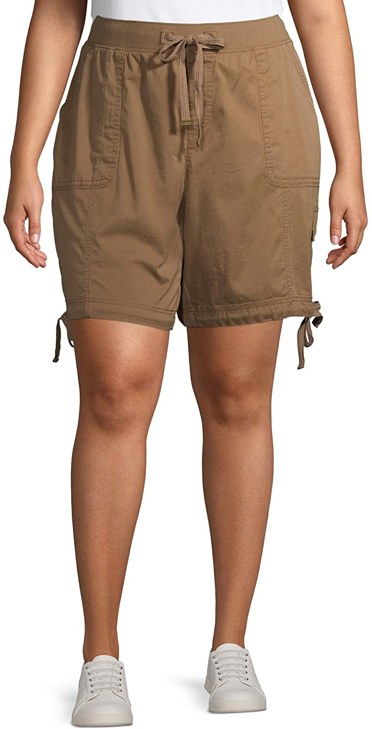 Terra & Sky Toasted Brown Plus Size Cargo Shorts
