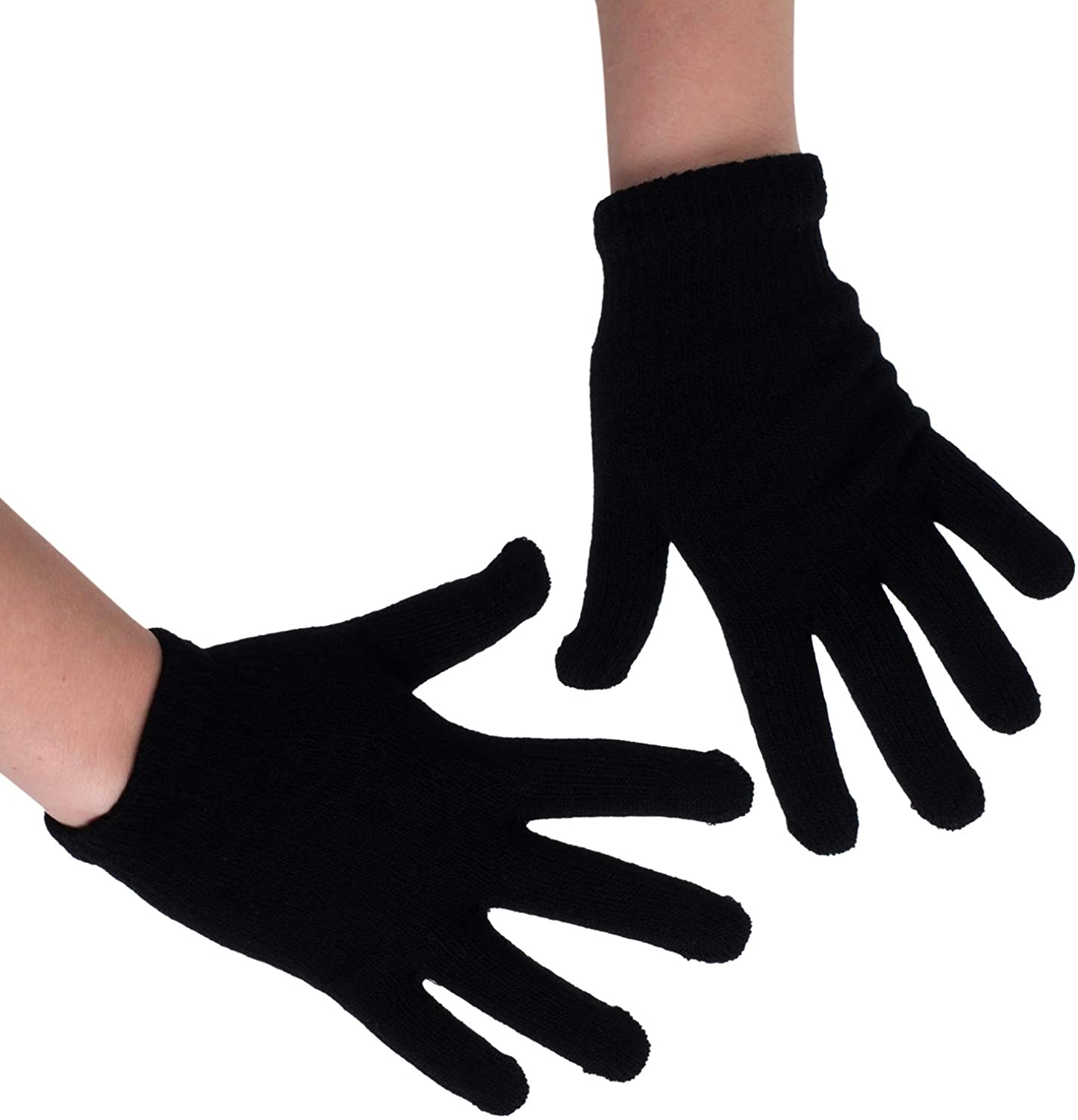 CoverYourHair Winter Gloves – Knit Gloves – Black Gloves – Magic Gloves – One Size Fits All Gloves