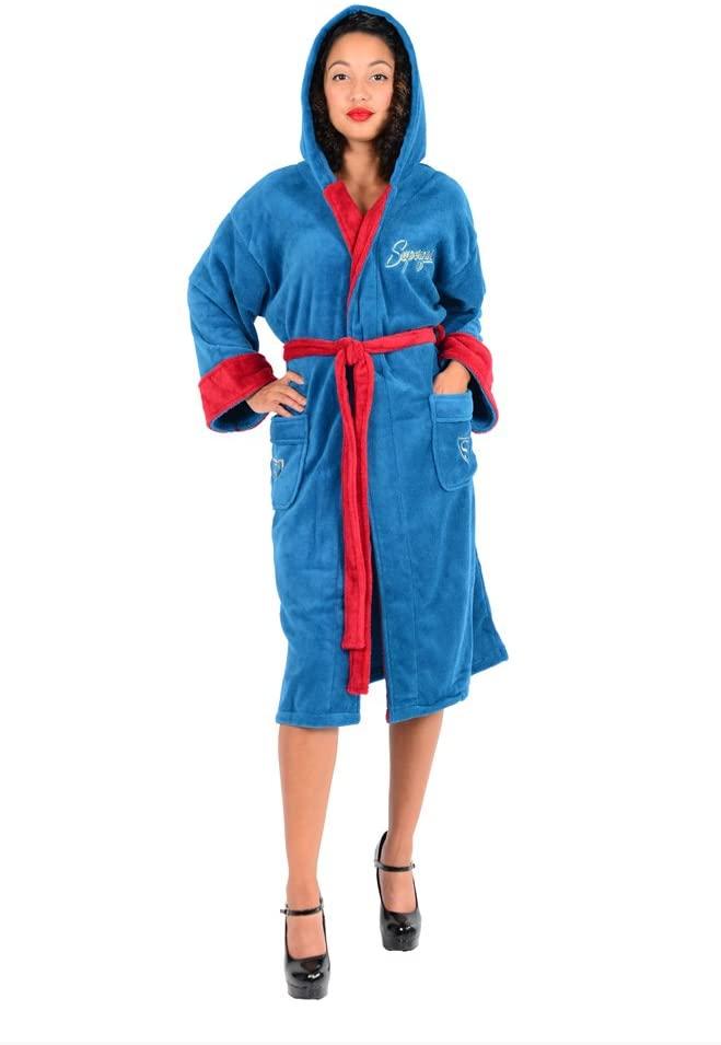 Robe Factory RF11661 DC Comics Bombshells Supergirl Fleece Bathrobe