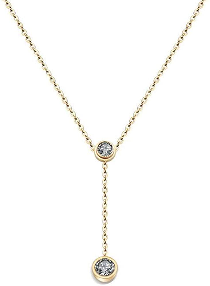 Jude Jewelers Stainless Steel Cubic Zircon Classical Statement Collar Chain Necklace