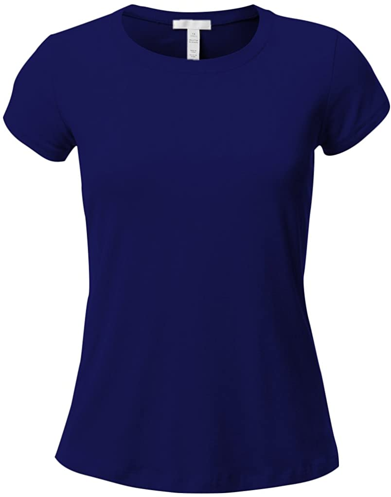 Emmalise Women's Athletic Fitted Tshirt Short Sleeves Crew Neck Active Tee (,)