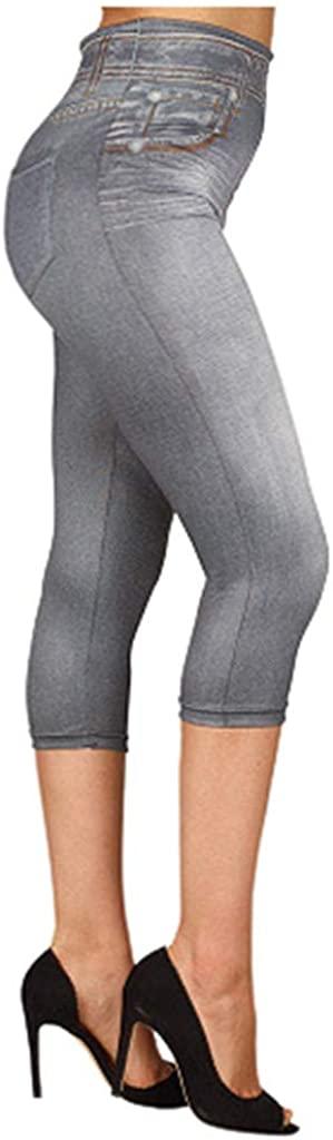 Women's High Waist Yoga Pants Tummy Control Slim Leggings Workout Running Butt Lift Tights Compression Leggings Yoga Capris