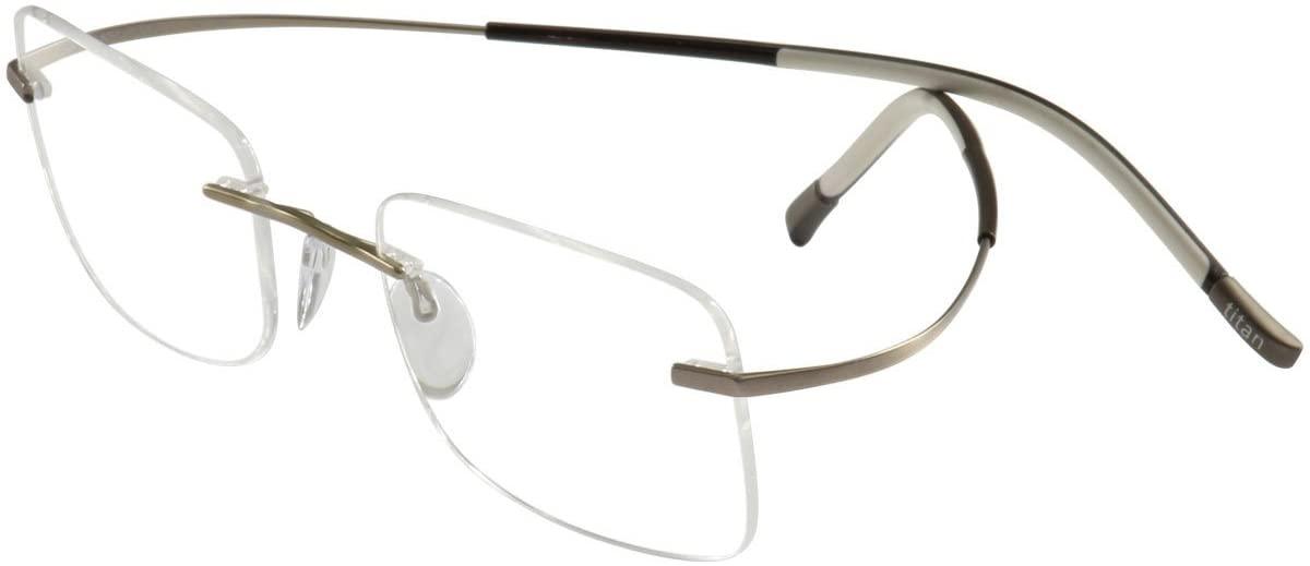 Silhouette Eyeglasses Titan Min Art Icon Chassis 7581 6051 Optical Frame 19x150