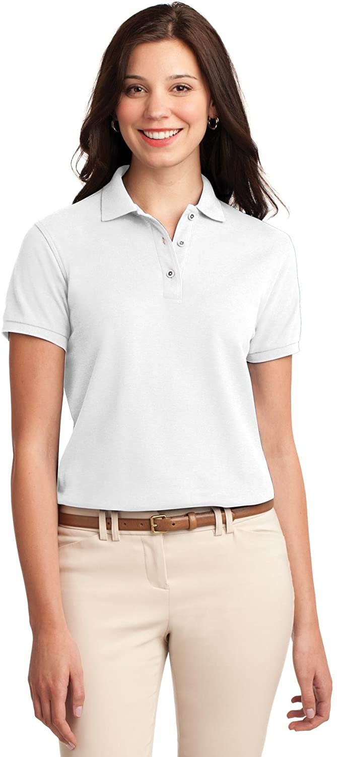 XtraFly Apparel Women's Silk Touch Polo Shirt L500 White