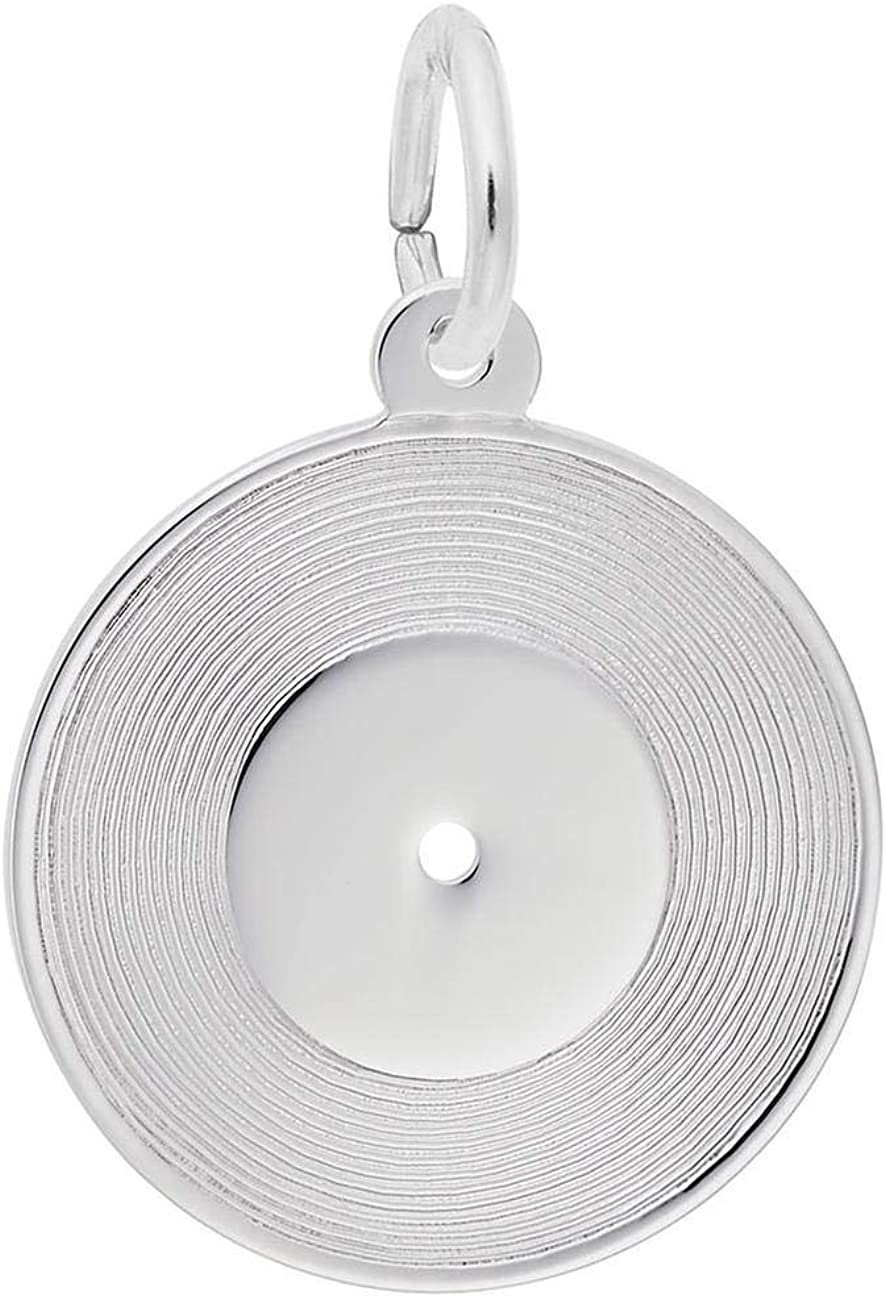 Sterling Silver Record Charm