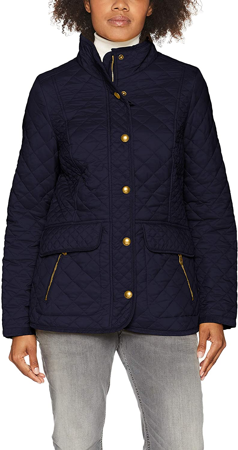 Joules Newdale Quilted Womens Jacket 6 Reg Marine Navy