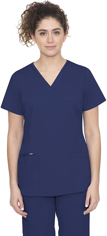 healing hands Purple Label Women's Jasmine 2278 V-Neck Top Scrubs- Navy- 3X-Large