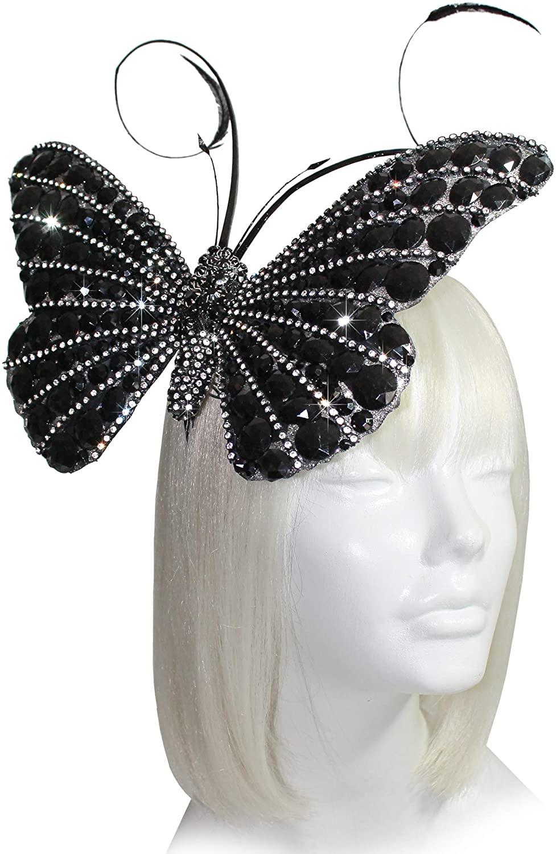 Mr. Song Millinery Papillon Profile Fascinator Headband AF59