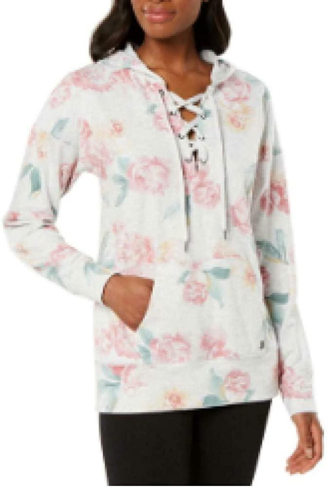 Ideology Womens Sweatshirt Fitness Hoodie, Sweet Carnation, XS